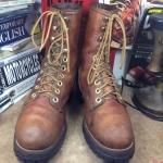 Vintage logger boots size 8.5 /26.5cm. งาน USA ปีลึกๆ