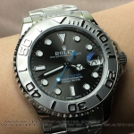 ROLEX YACHTMASTER GREY DIAL 37 MM