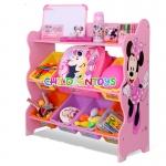 ชั้นวางของเล่นเด็ก มินนี่ เมาส์ Minnie Mouse Keeping Toys สีชมพู