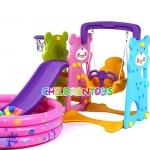 Mini Playground Set สไลเดอร์แพนด้า 3 อิน 1 สำหรับเด็ก