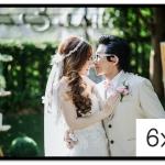 กรอบรูปแต่งงาน รูปภาพกรอบลอย ขนาด 6x8