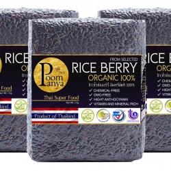 ข้าวไรซ์เบอรี่ Rice Berry เกรดA ส่งออก 3 kg.