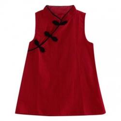 Baby Touch ชุดเด็กตรุษจีนหญิง รุ่นพรีเมี่ยม กระดุมดอกไม้ (Clothes - DCGC_90)