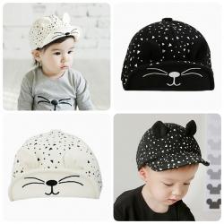 Baby Touch หมวกเด็ก แก๊ปแมวยิ้ม (Hat - BD)