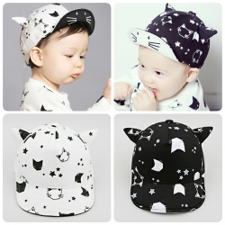 Baby Touch หมวกเด็ก แก็ปแมว หูแหลม (Hat - BA)