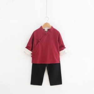 Baby Touch ชุดเด็กตรุษจีนชาย รุ่นพรีเมี่ยม กระดุมข้าง (Clothes - CCBC)