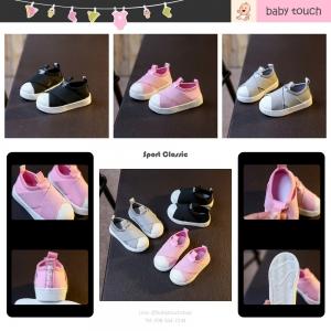 Baby Touch รองเท้าเด็ก รองเท้าพื้นแข็ง ทรงกีฬา ไม่มีเชือก (Shoes - FHA2)