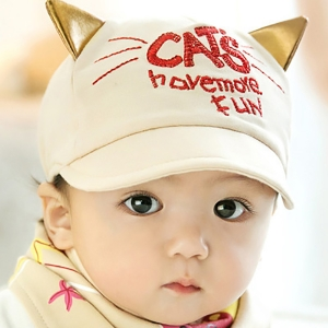 Baby Touch หมวกเด็ก พรีเมี่ยม แก๊ป CATS (Hat - BJ)