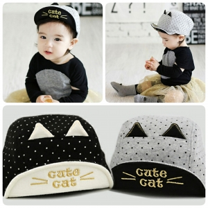Baby Touch หมวกเด็ก แก๊ป Cute Cat (Hat - BE)