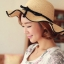 หมวกทรงWide brim สีกาแฟ ONE SIZE thumbnail 2