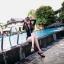 [พร้อมส่ง]ชุดว่ายน้ำแขนยาว เซ็ต 3 ชิ้น สีขาว-ดำ (บรา+กางเกงขาสั้น+เสื้อแขนยาว) thumbnail 5