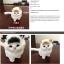 ตุ๊กตาจำลองแมวนั่ง สีขาวหูสีเหลือง 11x15 CM [มีเสียง] thumbnail 5
