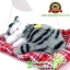 ตุ๊กตาแมวเหมือนจริงนอนหลับ สีเทาดำ 14x17 CM thumbnail 2