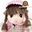 ตุ๊กตาเด็กผู้หญิงสวมเสื้อกันหนาวสีโอรส 40 CM thumbnail 2