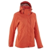 QUECHUA Women's Waterproof Jacket (Orange)