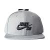 Nike SB Icon Snapback - Tumbled Gre / Black
