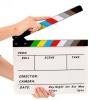สเลทฟิลม์ อะคริลิคแท้ slate film แคลปบอร์ด(Clapboard) 30 cm.