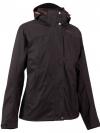 QUECHUA Women's Waterproof Jacket 3 in 1 - Black
