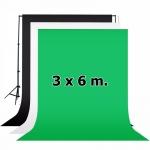 ผ้าฉากสตูดิโอ ขนาด 3x6 เมตร Photography Backdrop 3x6 m.