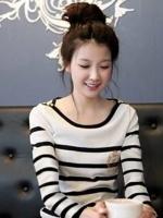 [รหัส W795] เสื้อผ้าแฟชั่นพร้อมส่ง เสื้อแขนยาวแฟชั่น ผ้า Milk Silk แบบสวม สีขาว