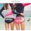ชุดว่ายน้ำแขนยาว กางเกงขาสั้นสีชมพูบานเย็นสวยๆ thumbnail 4