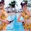 ชุดว่ายน้ำเอวสูง เซ็ต 2 ชิ้น สีเหลืองลายสวย thumbnail 2
