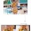 ชุดว่ายน้ำเอวสูง เซ็ต 2 ชิ้น สีเหลืองลายสวย thumbnail 3