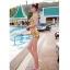 ชุดว่ายน้ำเอวสูง เซ็ต 2 ชิ้น สีเหลืองลายสวย thumbnail 4
