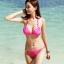 ชุดว่ายน้ำบิกินี่ทูพีช สีชมพูสวย บรา+บิกินี่แต่งห่วงเหล็กสวยๆ thumbnail 1