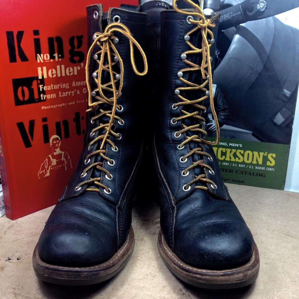 Vintage 1974 red wing green sole size 7.5E