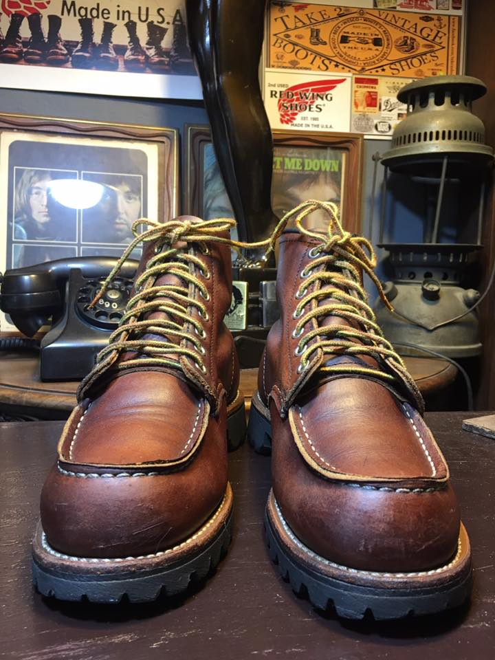 6e54b3303ed Red Wing 8146 Roughneck Moc Toe in Briar Oil Slick. Classic Red Wing Boot  made in Usa Minnesota เบอร์ 7.5D