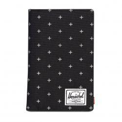 Herschel Search Passport Holder - Black Gridlock / RFID