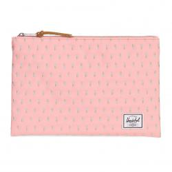 Herschel Network Pouch   L - Peach Pineapple - Embroidery Collection