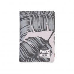 Herschel Raynor Passport Holder - Silver Birch Palm / RFID