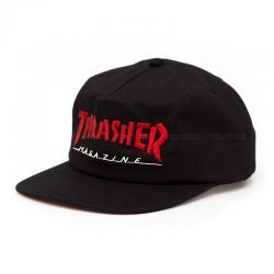 Thrasher Magazine Logo Two-Tone Hat - Black / Red