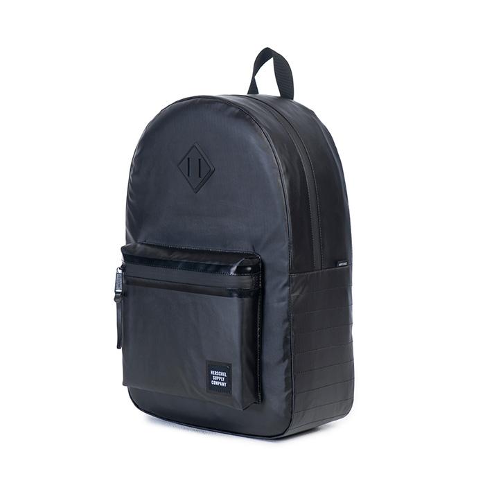 กระเป๋า Herschel Ruskin Backpack - Black Polycoat