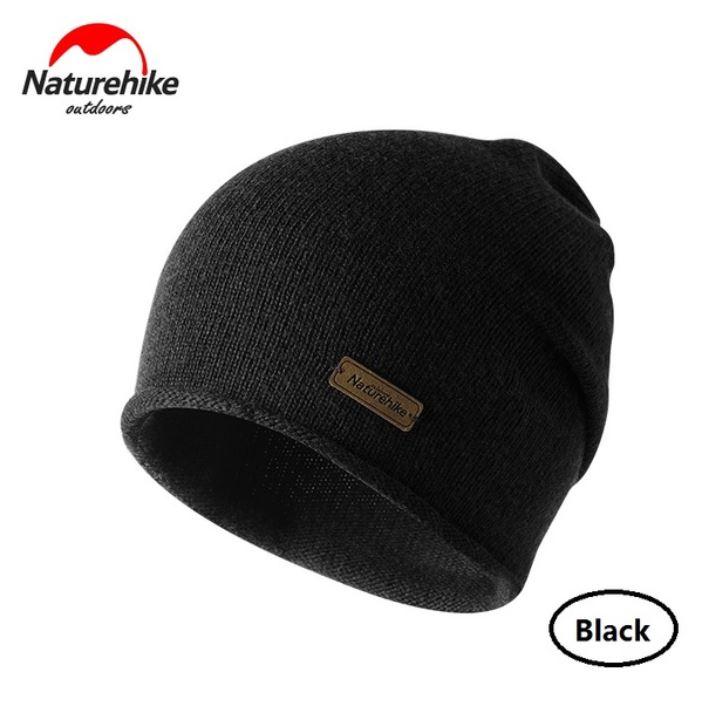Nature Hike Wool beanie hat (Black)