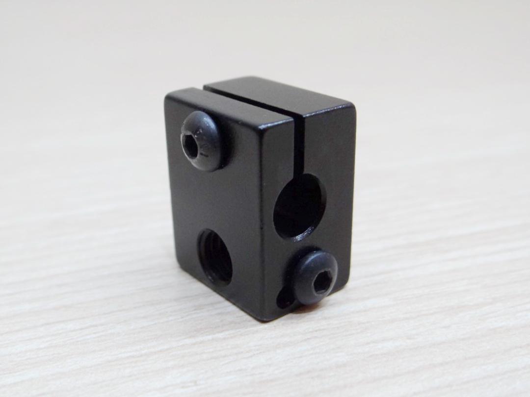 Black anodized Aluminum Heater Block All-Metal E3D V6 20x16x12mm
