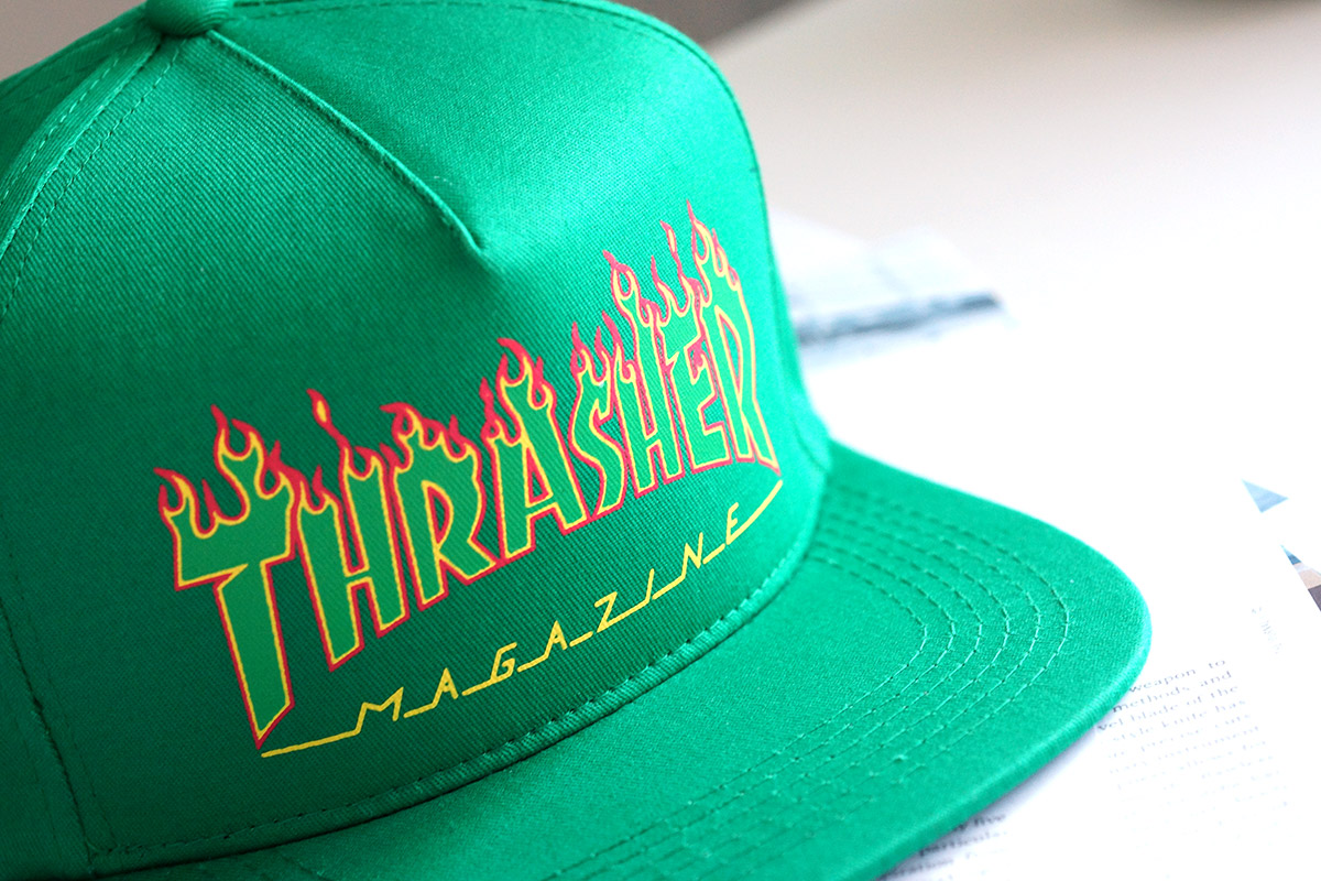 หมวก Thrasher Flame Logo Snapback Hat - Green