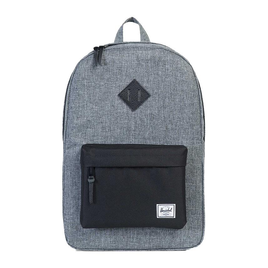 Herschel Heritage Backpack - Raven Crosshatch / Black / Black Leather