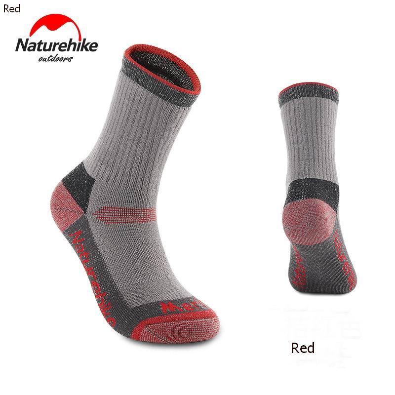 Nature Hike Merino wool sock ถุงเท้าเมอริโน่วูลสำหรับฤดูหนาว (Grey/Orange)