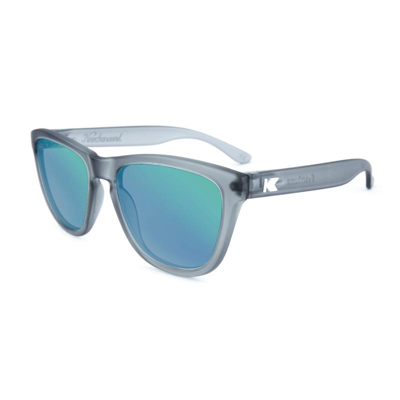 แว่น Knockaround Premiums Sunglasses - Frosted Grey / Green Moonshine