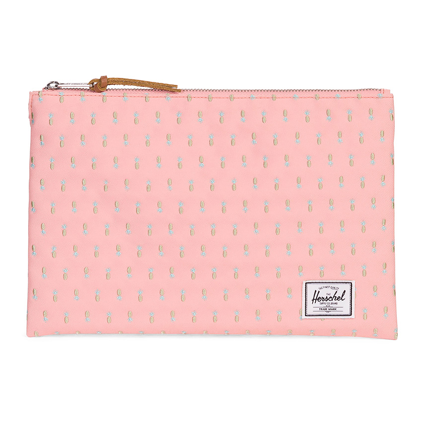 Herschel Network Pouch | L - Peach Pineapple - Embroidery Collection