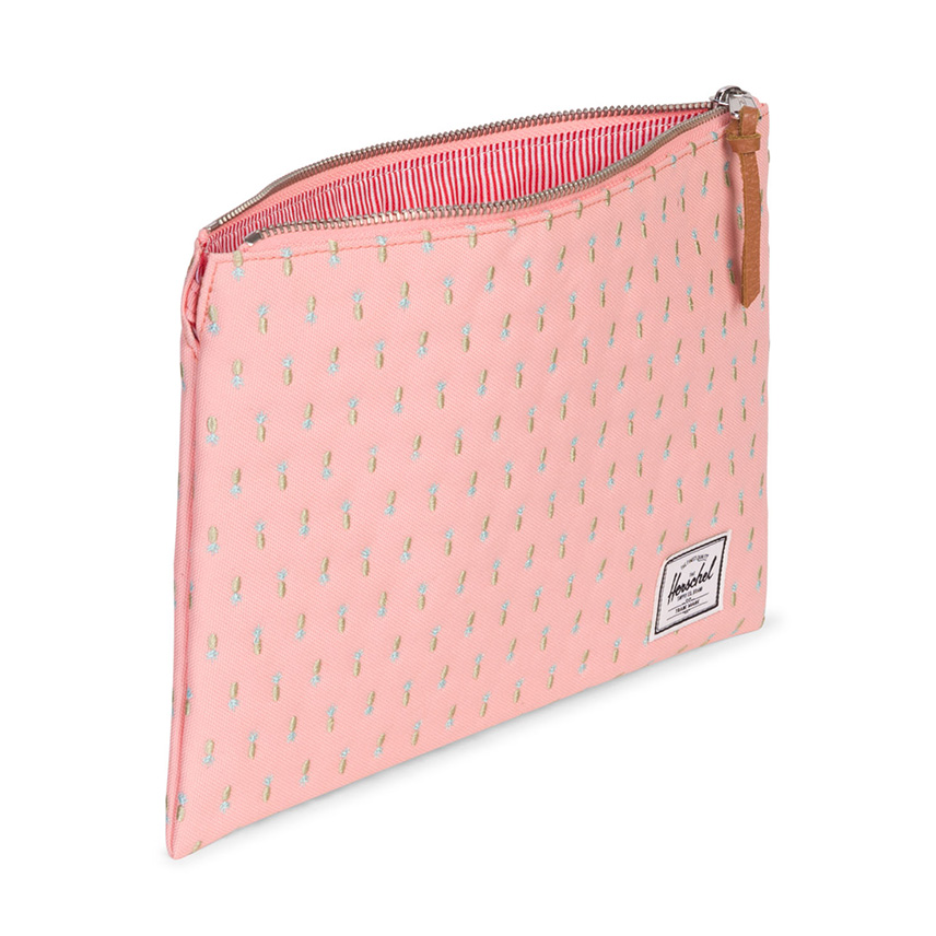 Herschel Network Pouch | L - Peach Pineapple - Embroidery Collection - ด้านใน
