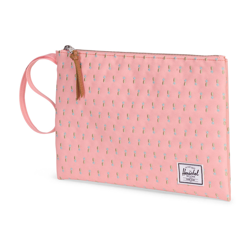 Herschel Network Pouch | L - Peach Pineapple - Embroidery Collection - ด้านข้าง