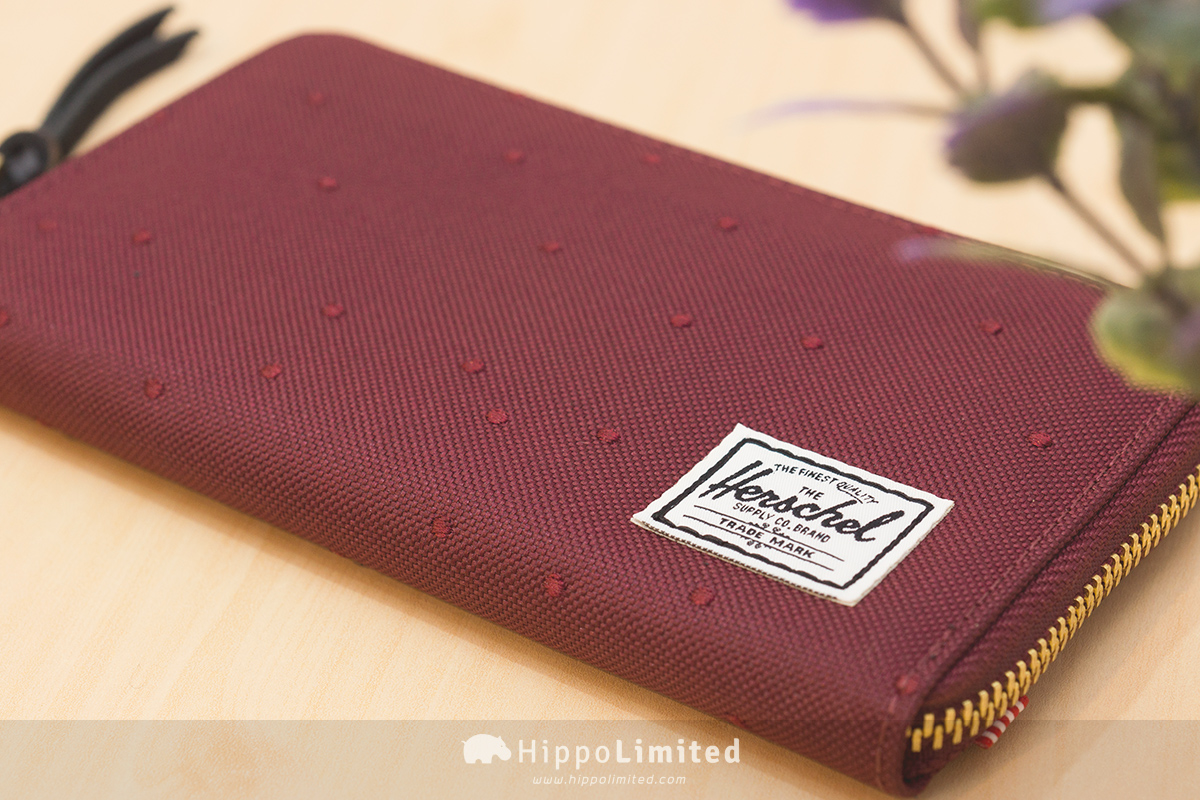 Herschel Thomas Wallet - Wine Embroidery Polka Dot