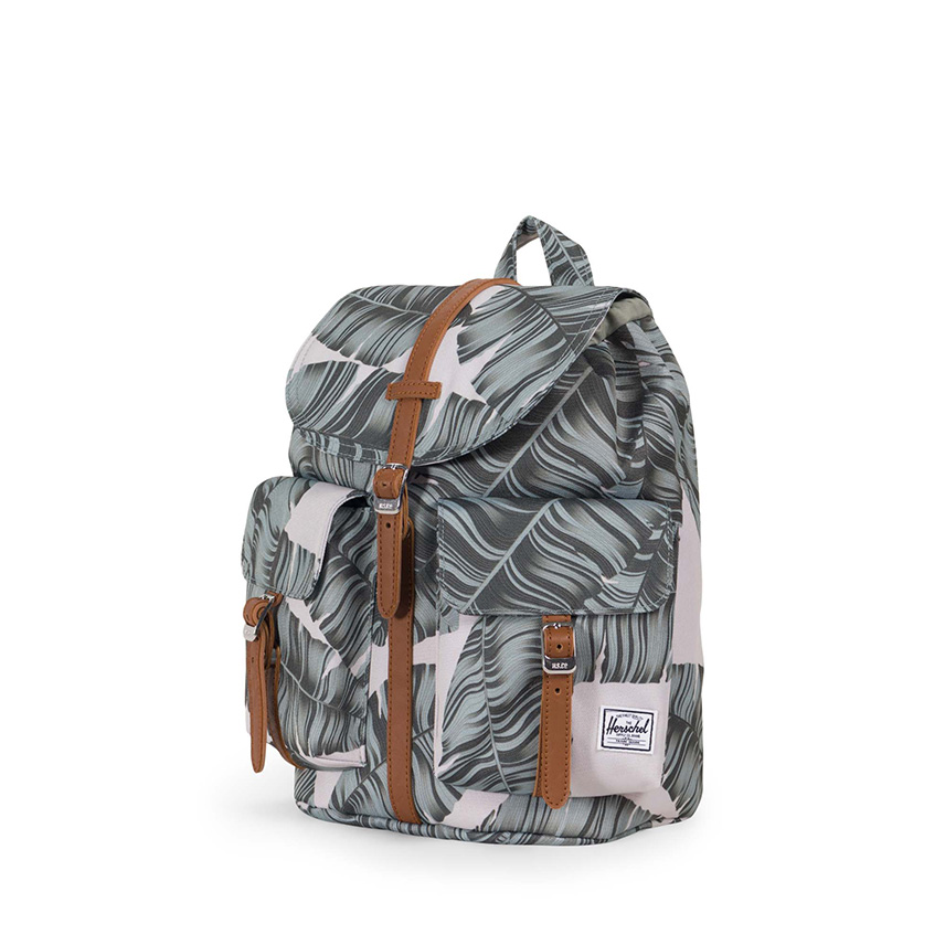 Herschel Dawson Backpack | XS - Silver Birch Palm / Tan - ด้านข้าง