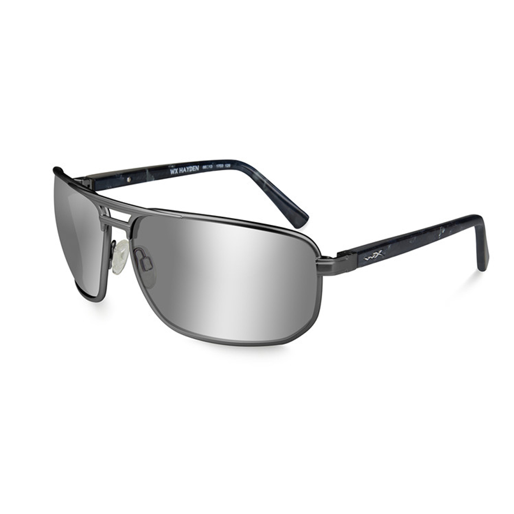WX l HAYDEN Polarized Silver Flash/Dark Gunmetal