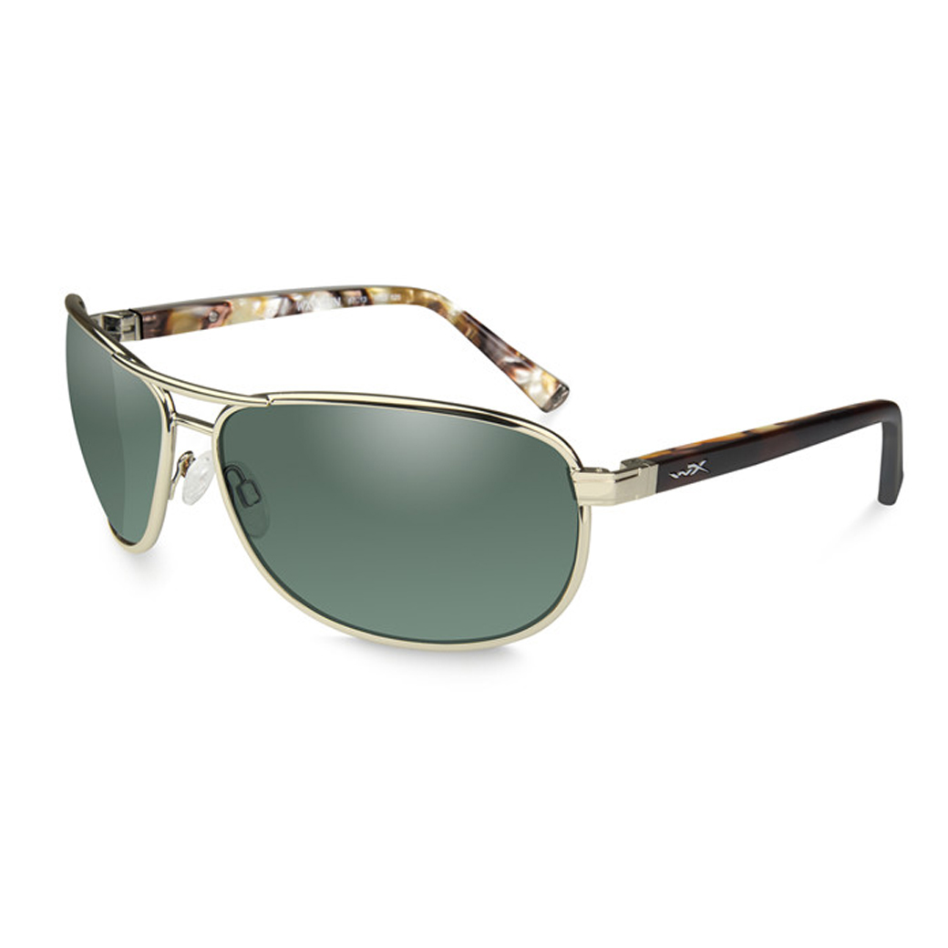 WX l KLEIN Polarized Green Gold Frame