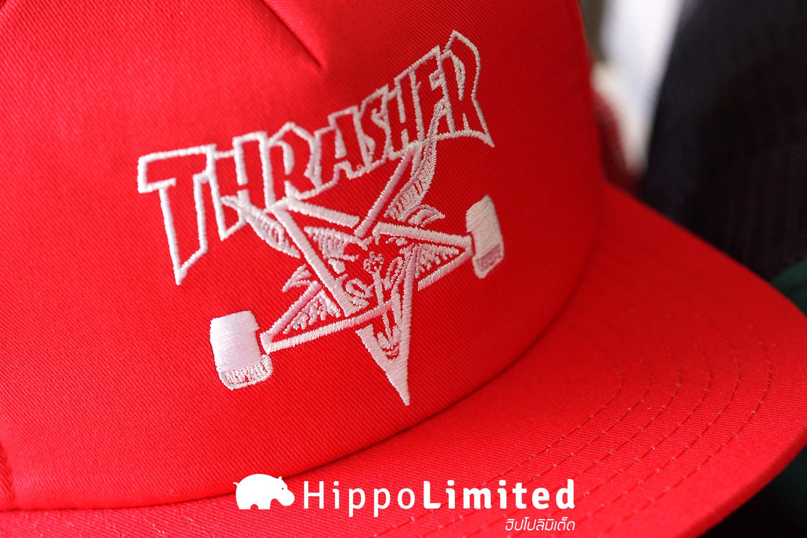 หมวก Thrasher Skategoat Mesh Cap - Red